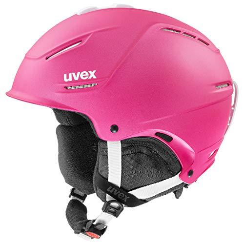 uvex Unisex– Erwachsene, p1us 2.0 Skihelm, pink met., 55-59 cm