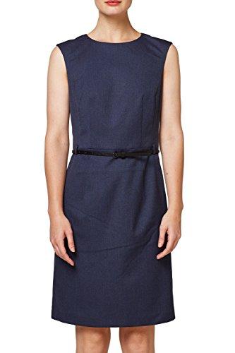 ESPRIT Collection Damen 088EO1E004 Kleid, Blau (Navy 400), 40