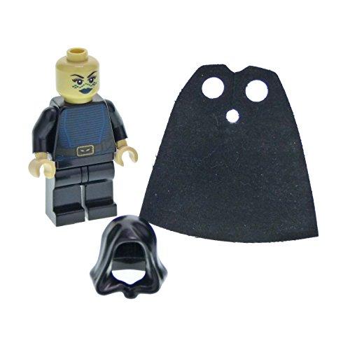 1 figura del sistema Lego Star Wars Clone Wars Barriss Offee Torso Negro Rayas Azul Cinturón Marrón Cabeza Beige Capa Capa Capa Capa Negro SW269