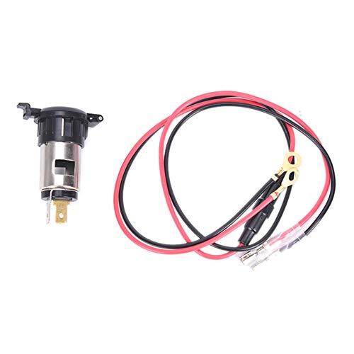 N\A Auto Feuerzeug Ladegerät Motorrad Boot Auto Zigarettenanzünder Sockel Stecker 12V 24V 120W Zigarettenanzünder wasserdichte Leistung mit Sicherungsdraht Universal (Color Name : Lighter Cable)