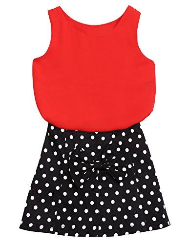 ZEARO ZEARO Babymädchen Kleid armellos Babysuit Babyrock mit Chiffon Shirt