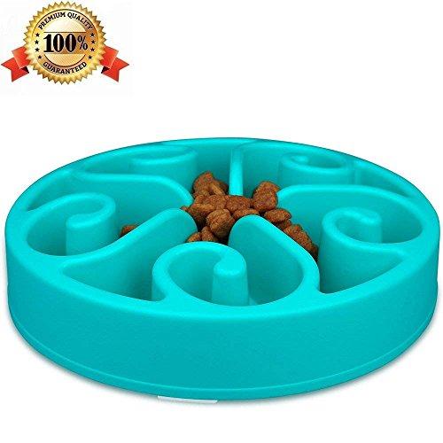 Ciotola per Slow Food Cani Anti ingozzamento cane Pet Bowl Dog da Mangiare Troppo Animale e rimpinzarsi Plastica Blu -Pupouse