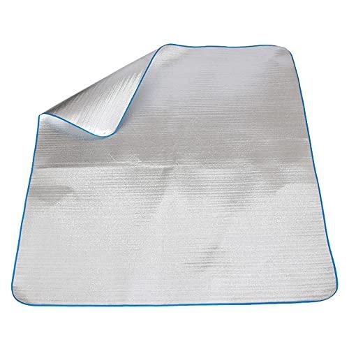 1 unid arena prueba Mat playa manta picnic manta grande camping sobre hierba arena plata aluminio película Eva 2 m*2 m