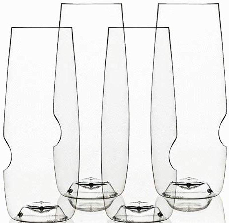 Govino 8 Ounce Dishwasher Safe Series Flute Glasses Champagne Set Of 4