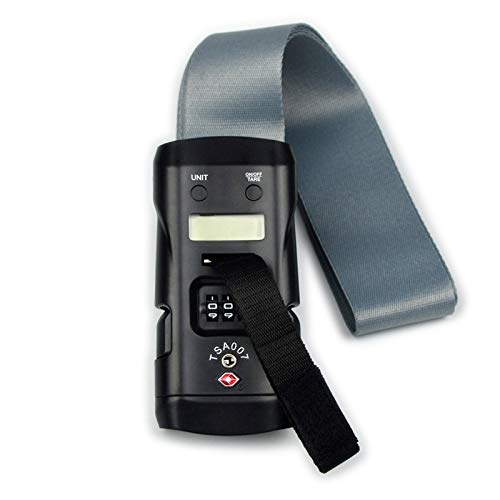 ZCXBHD Portátil Balanza De Equipaje 40kg Digital Escala Electrónica con TSA Contraseña Bloqueo Aduanero Escala De Bolsillo, Tara Y Función Cero