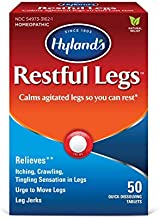 Restful Legs Tablets by Hyland's, Natural Itching, Crawling, Tingling and Leg Jerk Relief, 50 Count