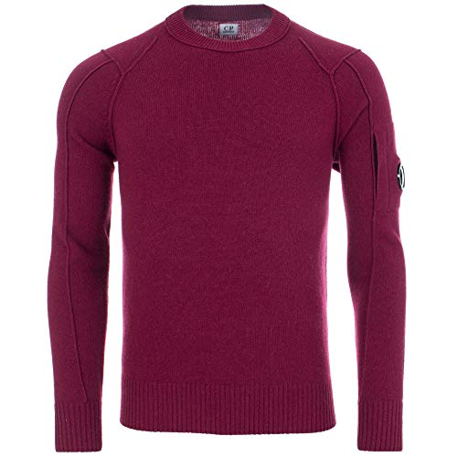 C.P. Company Arm Lens Crew Knit Beet Red-54