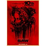 WYBFLF Canvas Poster Saw Classic Horror Film Posters Home