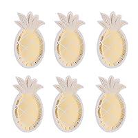 #N/A 8ゴールドパイナップル紙皿キッズガールズバースデーパーティー使い捨て食器