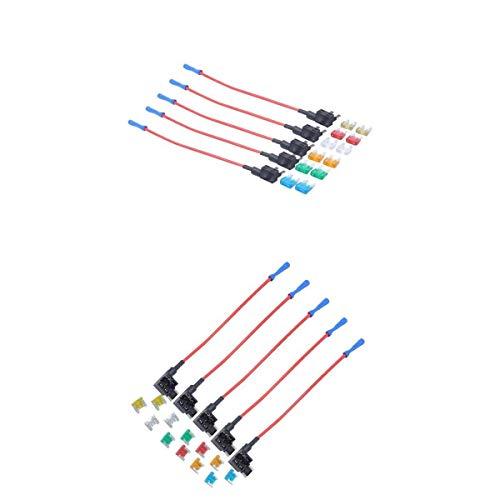 MagiDeal 24x5A 10A 15A 20A 25A 30A Mini Fusible avec Porte-Fusibles