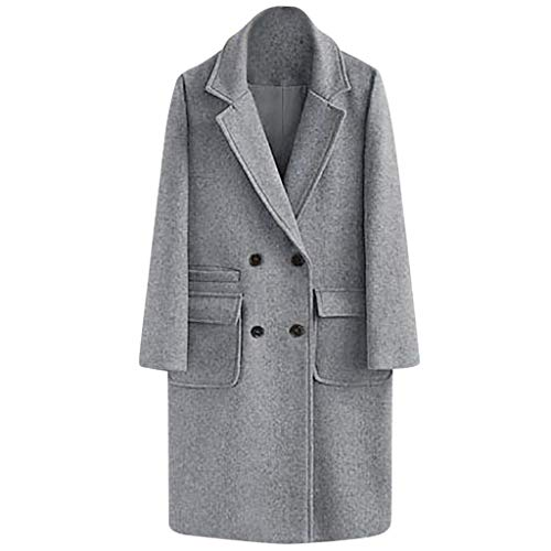 Younthone Womens Pea Coats, Solid Button Keep Warm Lapel Thick Parka Overcoat Winter Slim Long Jacket Outwear Tops