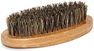 男性イノシシ毛剛毛髭口ひげブラシミリタリーハードラウンドウッドハンドル - ブラウン