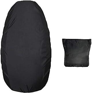 KKmoon Wasserdichter Sitzbezug für Motorradsitz, 210D Oxford, PU Leder, XL: 88 x 58 cm, Schwarz