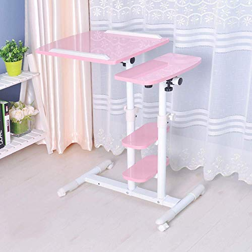 FTFTO Household Products Notebook Computer Stands Laptop Desk Bed With Laptop Table Portable Lazy Table Sofa Side Table With Casters Adjustable Tilt Suitable For Home And Office (Color : 03)
