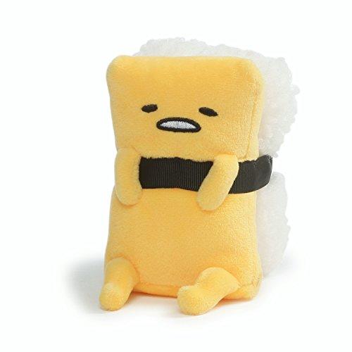 Gund Anime: Sanrio Gudetama Das Faule Ei - Tamago Sushi Rolle, Plüsch, 11.4 cm, Gelb und Schwarz