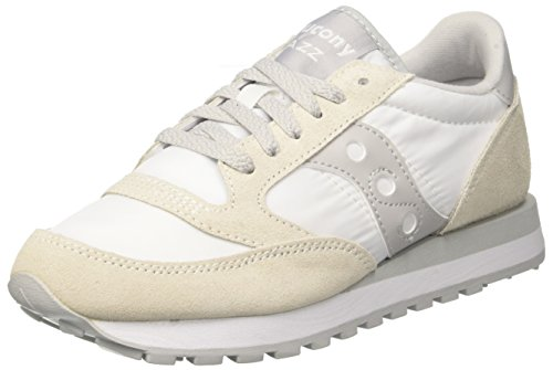 Saucony Jazz O, Scarpe da Running Unisex-Adulto, Multicolore (White/Grey), 41 EU