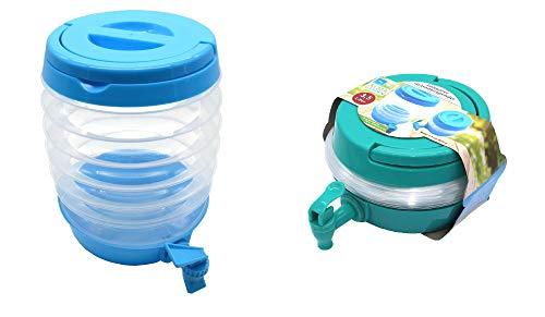 Getränkespender Wasserspender Wasserkanister faltbar mit Tragegriff und Zapfhahn 3,5 Liter 2 Stück