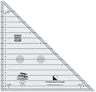 Creative Grids 45 Degree Half-Square Triangle Quilting Ruler Template CGRT45