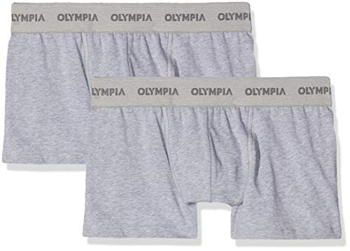 Olympia Herren Duo Boxers Badehose, Grau (Gris Chiné/Gris Chiné Na6), Small (Herstellergröße: T2S) (2er Pack)