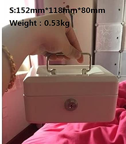 XKMY Caja fuerte con cerradura de combinación/contraseña cajas de acero para almacenar contenido, caja de papel, caja de documentos con cerradura (color: blanco S Key)