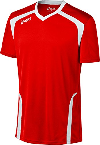 ASICS Men's Ace Jersey, Red/White, Large