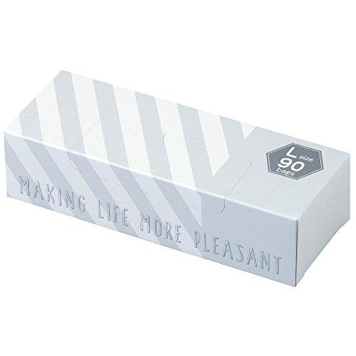 驚異の防臭袋 BOS (ボス) ★ストライプパッケージ/白色★Lサイズ90枚入 大人用 おむつ ・ ペットシーツ ・ 生...