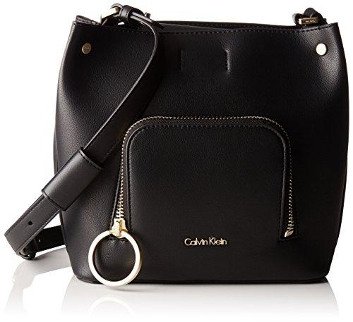 Calvin Klein Natasha Cube, Borsa a tracolla donna Nero nero 17.3x23x23 cm (W x H x L)