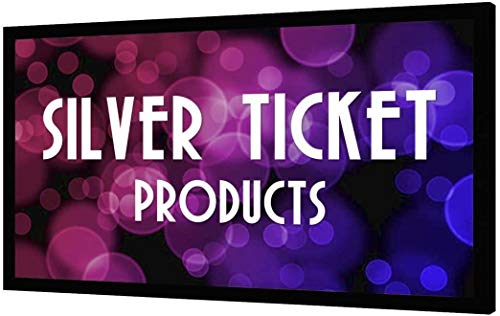 "STR-169150-HC Silver Ticket Products, 150"" Diagonal, 16:9 Cinema Format, 4K / 8K Ultra HD & HDR Ready, HDTV (6 Piece Fixed Frame) Projector Screen, (16:9, 150"", High Contrast Material)"