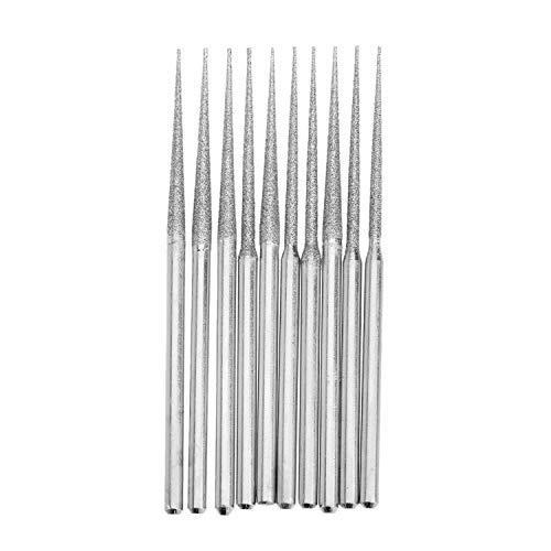 XCQ 10 stücke Bohrer Diamantschleifstäbe 3mm Schaft Bur Bit Nadelschleifen Carving Tool langlebig 0612