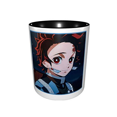 De-Mon Slayer Kama-Dotanjirou Taza de moda de cerámica de dos colores Taza de café Taza de té Oficina Estudiante 330ml