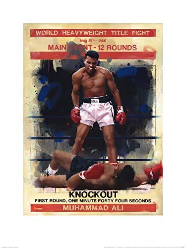 Muhammad Ali 1art1 Knockout, James Paterson Poster Kunstdruck 80 x 60 cm