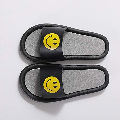 B/H Sandalias De Ducha de Casa,Zapatillas de Plataforma Interiores Antideslizantes, Sandalias de Masaje para baño en el baño-Black_40-41,Zapatillas de el hogar cómodas