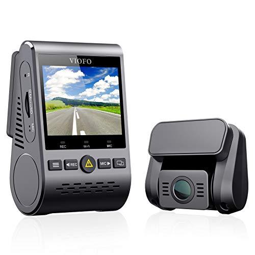 """VIOFO A129 DUO Dash Cam Doppia Telecamera per Auto FULL HD 1080P 2,0"""" Schermo LCD con Modulo GPS Super Visione Notturna, Monitoraggio 24 ore, Rilevatore di Movimento, Registrazione in Loop, G-Sensor"""