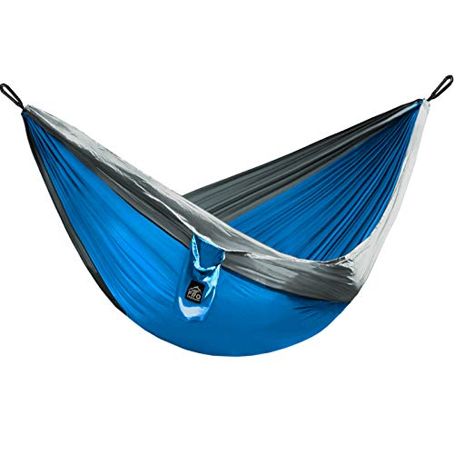 Double (Full) and Single (Twin) Camping Hammocks - Hammock with Free Premium Straps & Carabiners - Lightweight and Compact Parachute Nylon. Backpacker Approved and Ready for Adventure!