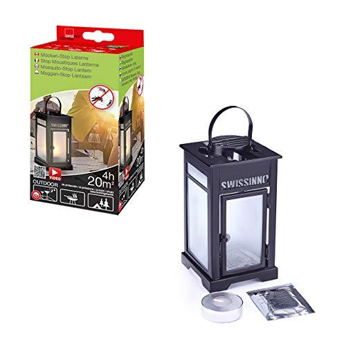SWISSINNO 1 230 001 Mückenstop Laternen-Set inklusiv Kerze / Plättchen