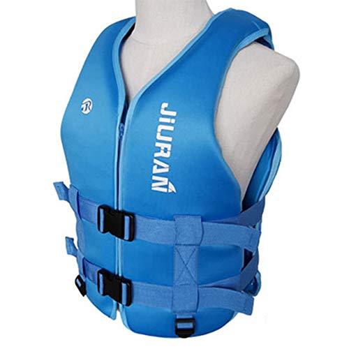 SXZSB Chaleco Salvavidas Flotante, Chaleco De Natación Ayuda A La Flotabilidad para Canotaje Kayak Piragüismo Adulto Adulto Chaleco De Natación Flotador Chaleco Salvavidas,Azul,XL
