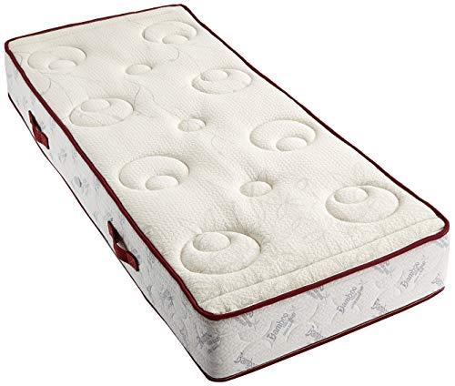 leunatex v-4010 matras schuimstof, polyester, wit, eenpersoonsbed, 190 x 80 x 25 cm