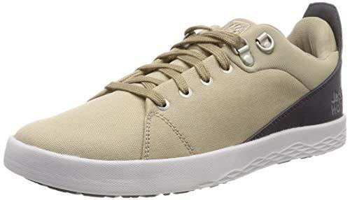 Jack Wolfskin Herren Auckland Ride Low Sneaker, Beige (Sand Dune 5605), 44.5 EU