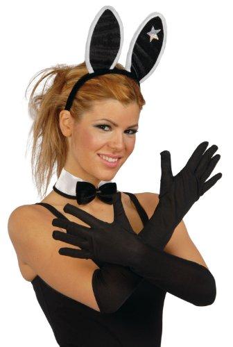Noir gants taille adulte 45 cm de long