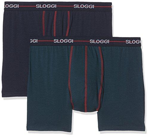 Sloggi Herren slm Start Short C2P Boxershorts, Mehrfarbig (Multiple Colours 14 4I), 8 (2er Pack)