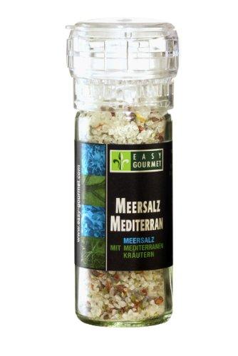 Easy Gourmet Meersalz Mediterran Gewürzmühle, 1er Pack (1 x 85 g)