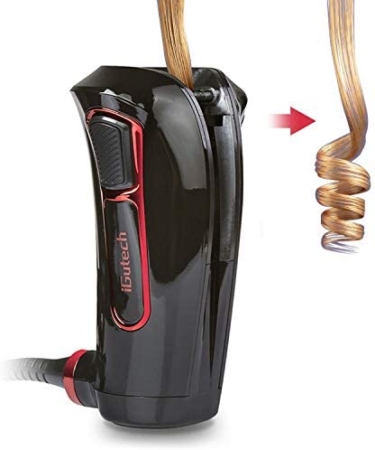 iGutech Automatic Hair Curler with Tourmaline Ceramic Heater and LED Digital Black