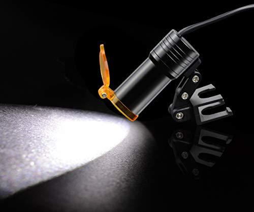 BoNew 3.5X Sur~gical Binocular Lou~PES Optical Glass+5W Headlight with Filter Clip-on Type + Aluminum Box (Black)
