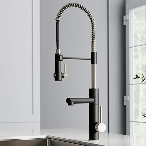 KRAUS KPF-1603SFSMB New Artec Pro 2-Function Commercial Style Pre-Rinse Kitchen Faucet with...