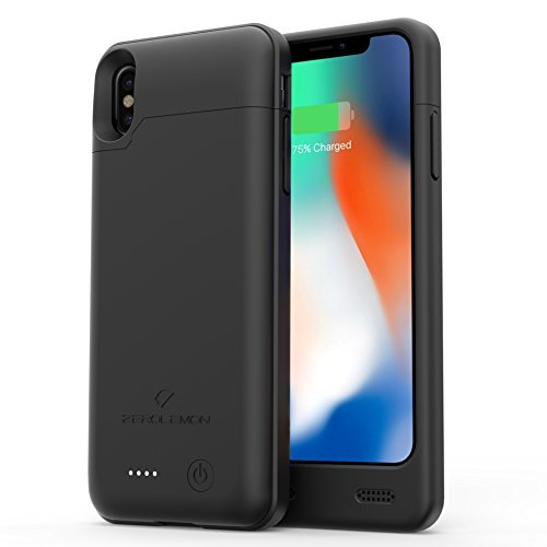 iPhone X/XS Battery Charging Case, ZeroLemon iPhone X/XS 4000mAh Slim Juicer Extended Battery Rechargeable Case for iPhone X/XS [Apple Certified Connector]-Black