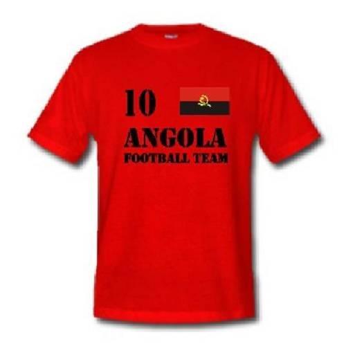 world-of-shirt Herren T-Shirt Angola im Trikot Look
