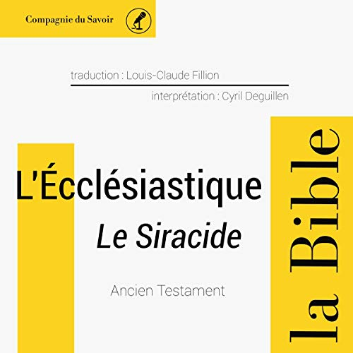 L'Écclésiastique (le Siracide) cover art