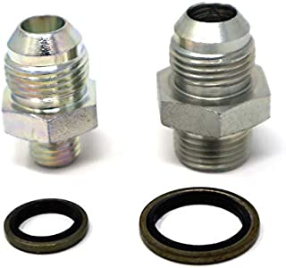 Tier1 Motorsports Bosch 044 Fuel Pump Inlet & Outlet Adapter Fittings STEEL 8 AN -8 E85 Compatible