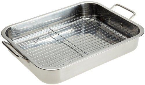 Stainless Steel Heavy Duty 16' Lasagna/Roasting Pan with Rack