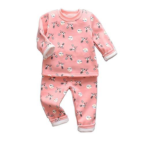 BenCreative Pijama de forro polar suave de algodn + pantalones para dormir para nios de 1 a 4 aos